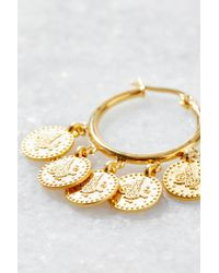 South Moon Under - Metallic Coin Hoop Earrings - Lyst