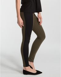 Spanx | Black Textured Panel Leggings | Lyst