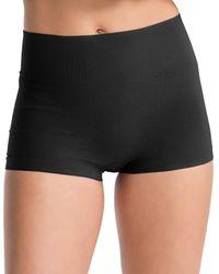 Spanx | Black Everyday Shaping Panties Boyshort | Lyst