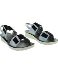 Bamboo - Metallic Natasha-03 Women's Sandals In Silver - Lyst