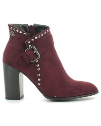 Byblos Blu - 6670p3 Ankle Boots Women Women's Mid Boots In Red - Lyst