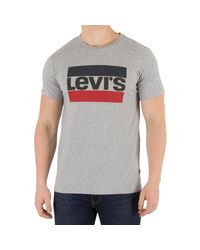Levi's - Gray Levis Men's 84 Sportswear Graphic T-shirt, Grey Men's In Grey for Men - Lyst