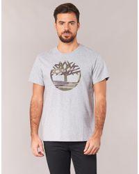 Timberland - Gray Dunstan River Camo Print Men's T Shirt In Grey for Men - Lyst