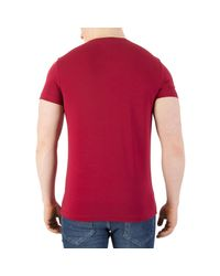 Tommy Hilfiger - Men's Stretch Slim Fit T-shirt, Red Men's T Shirt In Red for Men - Lyst