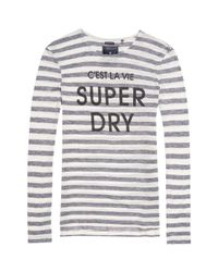 Superdry | G60001io T-shirt Women Blue Women's Sweater In Blue | Lyst