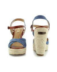Pepe Jeans - Walker Romantic Pls90177 Women's Sandals In Blue - Lyst