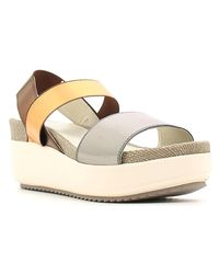 Stonefly - Gray 206011 Wedge Sandals Women Gun Women's Sandals In Grey - Lyst