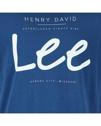 Lee Jeans | ®logo Tee Men's T Shirt In Blue for Men | Lyst