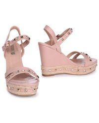 Linzi - Natural Carmen Women's Sandals In Beige - Lyst