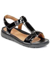 e53c84db9b7 Clarks Un Haywood Women s Sandals In Black in Black - Lyst
