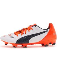 5972849591d Puma Evopower 2.2 Football Boots Soccer Cleats In White Orange 103 ...