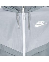 Nike - Gray Tech Windrunner Women's Windbreakers In Grey - Lyst