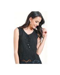 Infinie Passion - Black Top 00w039265 Women's Vest Top In Black - Lyst