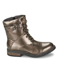 Les P'tites Bombes | Metallic Stone Women's Mid Boots In Silver | Lyst