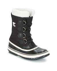 Sorel | Winter Carnival Women's Snow Boots In Black | Lyst