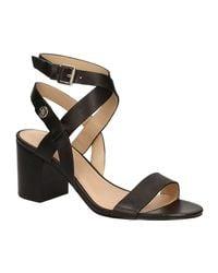 Guess | Flnaj2 Lea03 High Heeled Sandals Women Black Women's Sandals In Black | Lyst