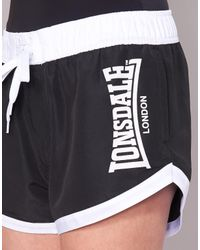 Lonsdale - Brooksby Women's Shorts In Black - Lyst