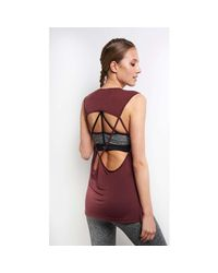 Koral - Multicolor Aura Tank - Wine - Xs Multicolour Women's Vest Top In Multicolour - Lyst