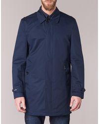 Ben Sherman - New Cotton Mac Men's Trench Coat In Blue for Men - Lyst