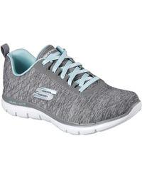4ff27455fb3d Skechers Sk12753 Flex Appeal 2.0 Women s Trainers In Grey in Gray - Lyst