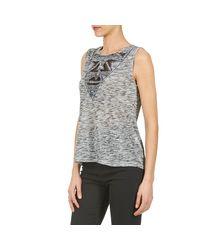 Best Mountain - Gray Galston Women's Vest Top In Grey - Lyst