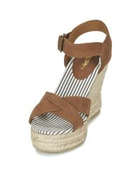 Superdry - Isabella Espadrille Wedge Shoe Women's Sandals In Brown - Lyst