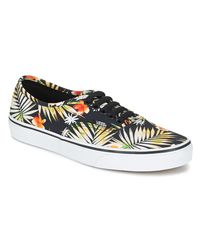 Vans - Authentic Women's Shoes (trainers) In Black - Lyst