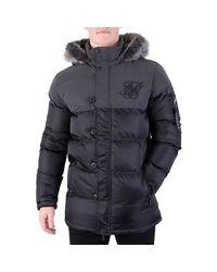 Sik Silk - Men's Reflective Puffparka Jacket, Black Men's Jacket In Black for Men - Lyst