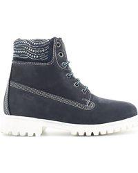 Keys - 8089 Ankle Boots Women Blue Women's Mid Boots In Blue - Lyst