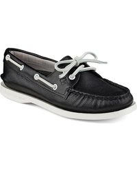 Sperry Top-Sider - Black Women's Authentic Original 2-eye Optic Boat Shoe - Lyst