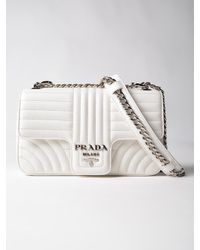 Prada - Multicolor Soft Calf Impunture Shoulder Bag - Lyst