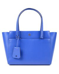 6aff3b43767b Lyst - Tory Burch Parker Small Tote in Blue