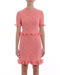 Alexander McQueen - Pink T-shirt Mini Dress - Lyst