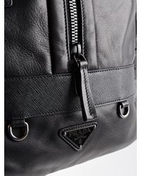 Prada | Black Vitello Bag for Men | Lyst