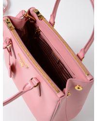 Prada - Pink Galleria Handbag Saffiano Lux - Lyst