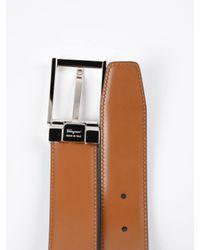 Ferragamo - Black Double Adjustable Belt for Men - Lyst