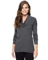 Splendid | Black Cowl Neck Tunic | Lyst