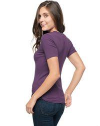 Splendid - Purple V-neck Tee - Lyst