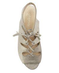 Splendid - Metallic Anna Lace Up Sandal - Lyst