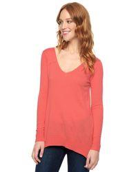 Splendid | Red Cashmere Blend Pullover | Lyst