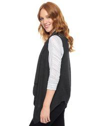 Splendid - Black Sullivan Sweater Vest - Lyst