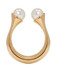 Chloé - Metallic Gold Darcey Round Ring - Lyst