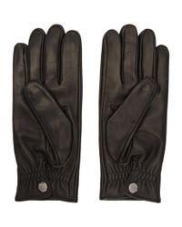 Prada - Black Lambskin Gloves for Men - Lyst