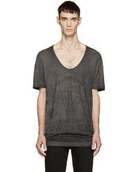 Diesel Black Gold - Black Distressed Graphic T-shirt for Men - Lyst