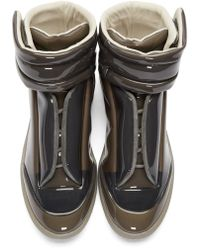 Maison Margiela - Gray Future Leather High-Top Sneakers for Men - Lyst