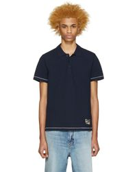 Marc Jacobs - Blue Navy Cotton Polo for Men - Lyst