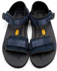 2c19b7968b Robert Geller Navy Suicoke Edition Sandals in Black for Men - Lyst