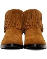 3.1 Phillip Lim - Brown Suede Fringe Alexa Boots - Lyst