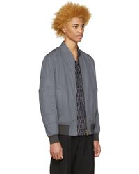 Marni - Gray Grey Cotton Bomber Jacket for Men - Lyst