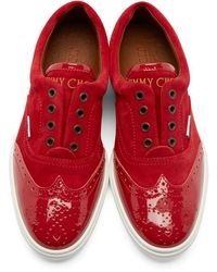 Jimmy Choo - Red Brian Low-top Sneakers for Men - Lyst